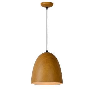 Lucide Woody 3 - Suspension abat-jour en bois