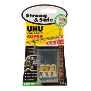 UHU Lot mini-colles gel Strong & Safe 1gr