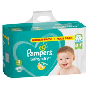 Pampers Baby Dry taille 4, 102 couches Lot de, pour respirants Sécheresse, 1er Pack (1 x)