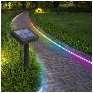 Xanlite Balise strip LED solaire - 3 m RVB