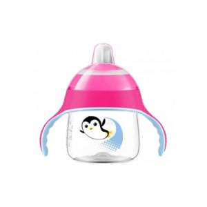 Philips Glass With Pink Penguin Mouthpiece 200 Ml 200 Ml