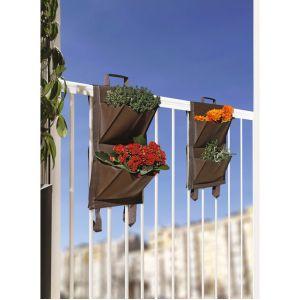 Catral Jardin balcon 4 poches - Marron - Vendu par 2 GARDEN