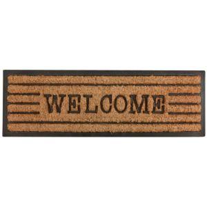 Esschert design Tapis en fibres de coco inscription Welcome