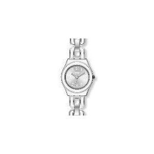 Swatch White Chain - Montre pour femme avec bracelet en acier