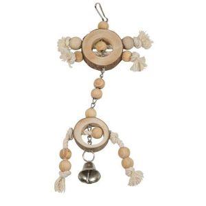 Flamingo Jouet pour perroquet : pendentif en bois