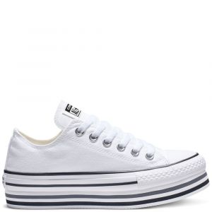 Converse Chaussures casual Chuck Taylor All Star basses en toile EVA Layers Plateforme Blanc - Taille 36,5