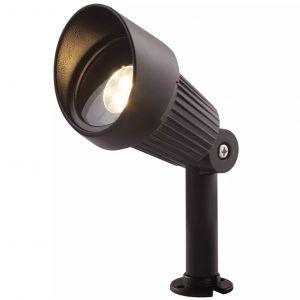 Perel Spot projecteur à piquer ou visser FOCUS 3W GU5.3 MR16 IP44 Blanc Chaud Orientable éxterieur Garden lights ampoule fournie
