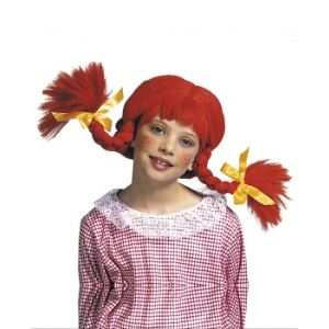 Widmann Perruque poupée tresses rouge