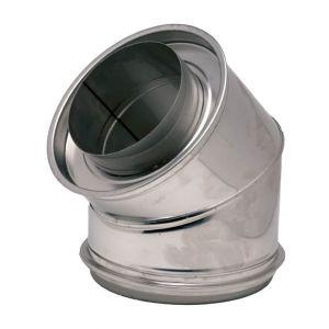 Ten Coude isolé a 45° inox304/galva O153-200