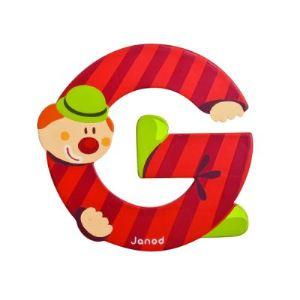 Janod Lettre clown en bois : G