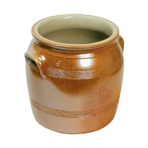 Pot à gras vernissé n°7 en grès (24 cm)