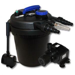 wiltec Kit de Filtration à Pression Bio 6000l Stérilisateur UVC 11W Pompe de Bassin Pompe de Fontaine