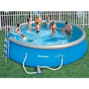 Bestway 57213 - Set piscine autoportante ronde Ø 549 x 122 cm