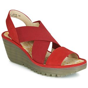 Fly London Chaussures escarpins YAJI rouge - Taille 36,37,38,39,40,41