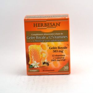 Herbesan Gelée Royale +12 Vitamines 30 comprimés