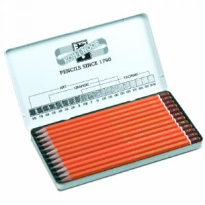 Koh-I-Noor Coffret de 12 crayons à papier