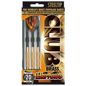 Harrows 3 fléchettes Club Brass pointe acier et laiton