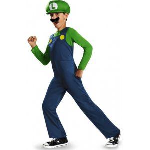Déguisement Luigi Enfant (Super Mario Bros) (Taille 7 À 8 Ans) Tv Films Et Jeux Vidéo