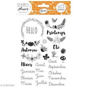 Aladine Kit de tampons Stampo Planner - Saisons - 29 pcs