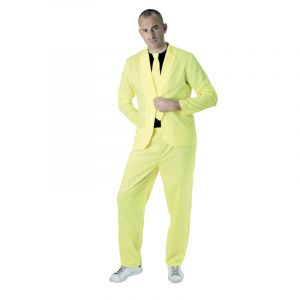 Party Pro Costume fashion jaune fluo adulte Taille unique