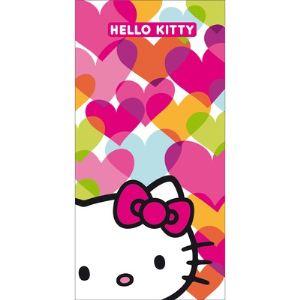Cti 041400 - Drap de bain/plage Hello Kitty Mimi Love (75 x 150 cm)