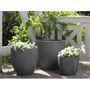 Beliani 3 cache-pots gris foncé Kannia