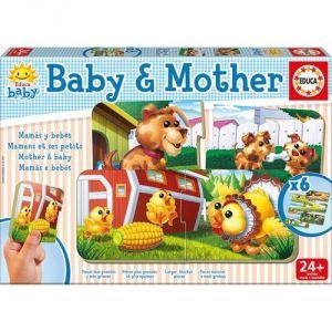 Educa Puzzle Les animaux de la ferme : Bébés et mamans (6 x 2 pièces)