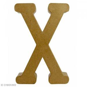 decopatch Lettre fantaisie «X» - papier mâché