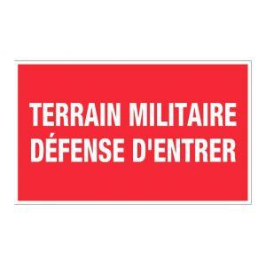 Novap Panneau Terrain militaire défense d'entrer - Rigide 330x200mm - 4160573
