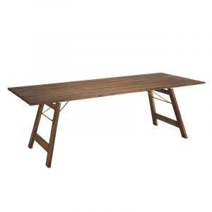 Table à manger rectangulaire pliante Acacia 220 x 90 cm