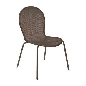 Emu Chaise de jardin empilable Ronda Marron d'Inde