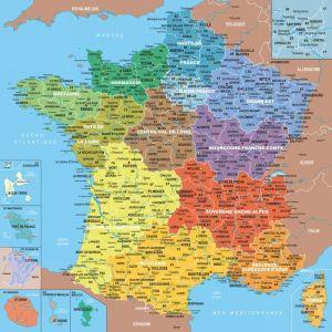 Puzzle Michèle Wilson Carte de France avec Nouvelles Régions - Puzzle en bois 100 pièces