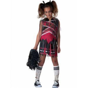 Déguisement pom-pom girl zombie pour fille premium