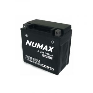 Numax Batterie moto Premium AGM YT12BS / YTX12BS SLA 12V 10Ah 140A