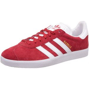 Adidas Gazelle, Baskets Basses Homme, Rouge (Scarlet/FTWR White/Gold Met.), 46 EU