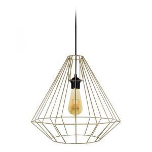DIAMOND Suspension filaire Ø 40 x H 80 cm Laiton Ampoule à filaments comprise E27 40W