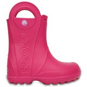 Crocs Handle It,Bottes de Pluie,Mixte Enfant,Rose (Candy Pink), 33/34 EU
