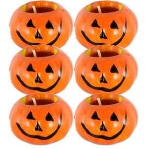 6 Bougies Citrouille d'Halloween en céramique