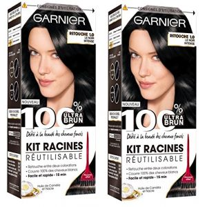 Garnier 100% Ultra Brun Retouche Noir 1.0 - Kit racines réutilisable noir