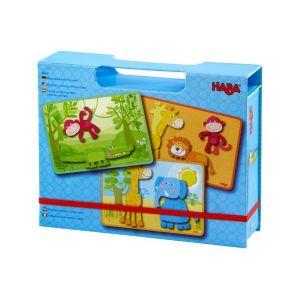 Haba 303387 Animal Safari Boîte de Jeu magnétique