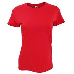Sol's T-shirt Sols Imperial Tshirt épais à manches courtes rouge - Taille EU XXL,EU S,EU M,EU L,EU XL