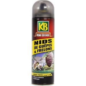 KB Home Defense - Insecticide nids de guêpes & frelons - Aérosol 500 ml