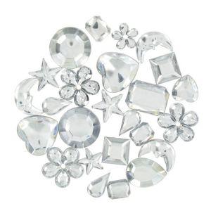 Strass Multimix - cristal - 0,8 à 2 cm - 208 pces