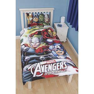 Marvel Avengers - Housse de couette et taie en polycoton (135 x 200 cm)