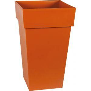 Eda Plastiques Pot carré gamme Toscane orange L40xl39xH65 cm