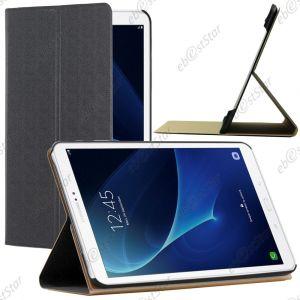 EbestStar Pour Samsung Galaxy Tab A 2016 10.1 T580 T585 (A6) - Etui Coque Housse Slim Smart Cover Support Haute Solidité Smartcase, Couleur Noir [Dimensions Precises De Votre Appareil : 254.2 X 155.3 X 8.2 Mm, Écran 10.1'']