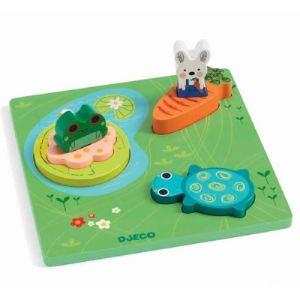 Djeco Puzzle 1, 2, 3 Froggy