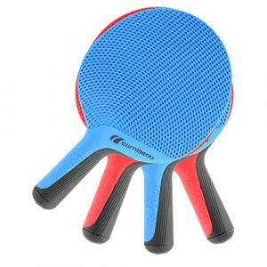 CORNILLEAU %u2013 Raquette Unisexe Doux Eco Motif Raquette de Tennis de Table, Rouge/Bleu, Taille Unique