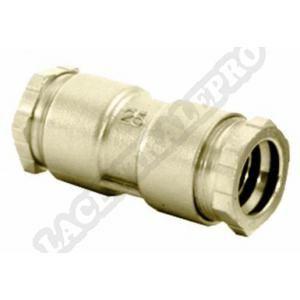 Huot Jonction symétrique Rexuo pour tubes PE et PVC diamètre 32 mm : 9012.32