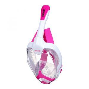 Seacsub SEAC Masque de plongée intégral Unica - Taille S/M - Blanc et rose - Masque de plongée intégral Unica - Taille S/M - Blanc et rose - Le tuba dispose d'une extrémité Dry Top